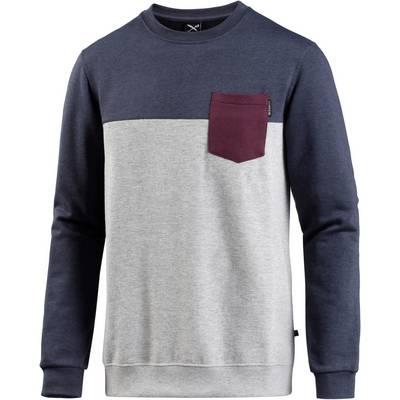iriedaily Block Pocket Sweatshirt Herren greyblue