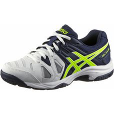 ASICS Game Tennisschuhe Kinder white/indigo blue/safety yellwo