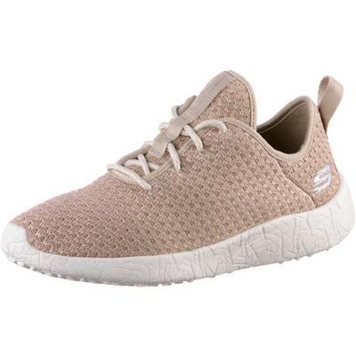 Skechers BURST CITY SCENE Sneaker Damen Natural & Pink Textile/ Natural Trim