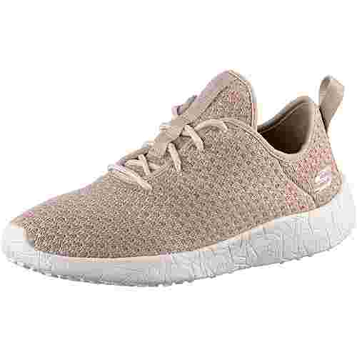 Skechers BURST CITY SCENE Sneaker Damen Natural & Pink Textile/ Natural Trim