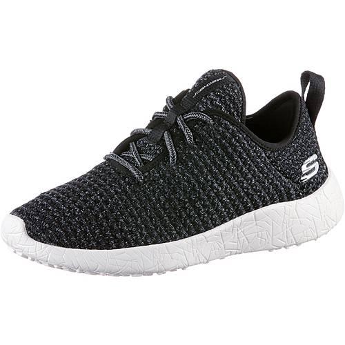 Skechers BURST CITY SCENE Sneaker Damen Black & Gray Textile/ White Trim