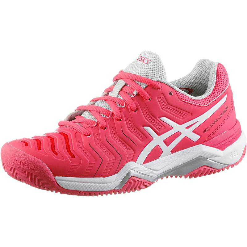 ASICSGELCHALLENGER 11 CLAY  TennisschuheDamen  ROUGE RED/WHITE/GLACIER GREY