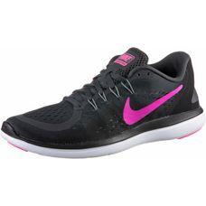 Nike FLEX 2017 RN Laufschuhe Damen anthracite-pink blast-black-co