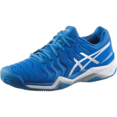 ASICS GEL-RESOLUTION 7 CLAY Tennisschuhe Herren DIRECTOIRE BLUE/SILVER/WHITE