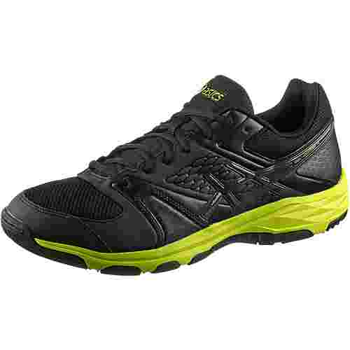 ASICS GEL-DOMAIN 4 Hallenschuhe Herren black/dark grey/energy green