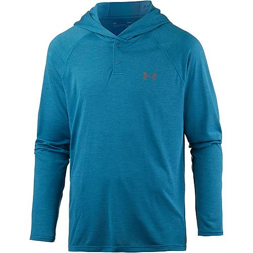 Under Armour HeatGear Tech Popover Funktionsshirt Herren BAYOU BLUE /  / GRAPHITE