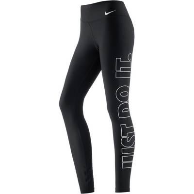 Nike Power Tights Damen BLACK/WHITE