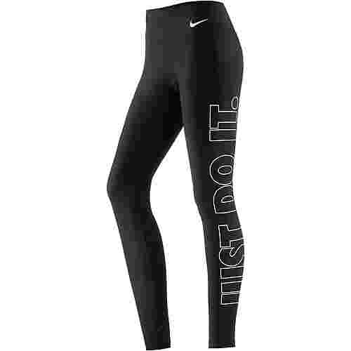 Nike Power Tights Damen BLACK/WHITE