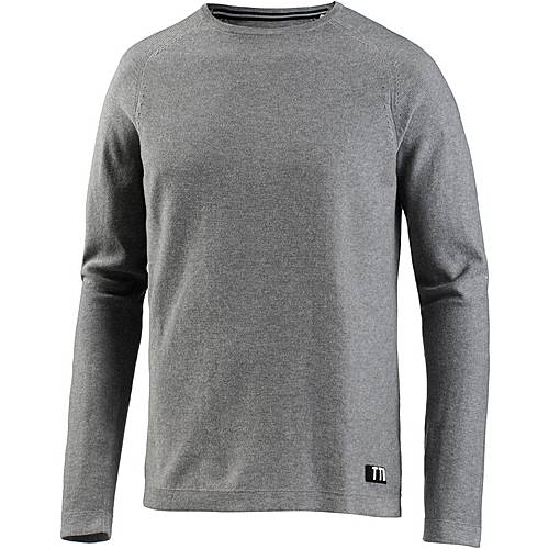 TOM TAILOR Rundhalspullover Herren heather grey melange