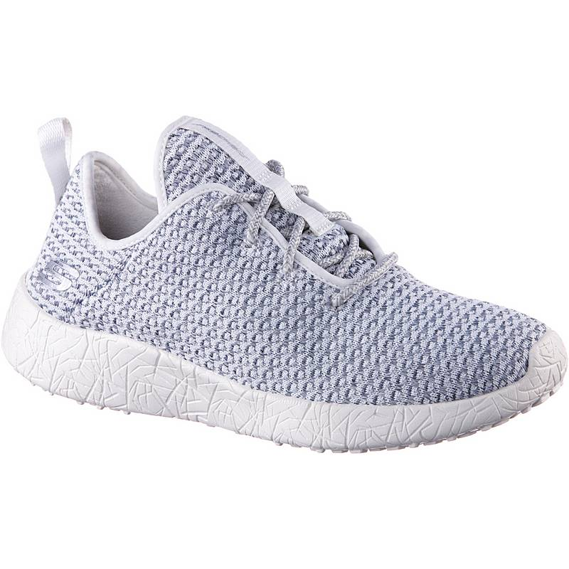 SkechersBURST CITY SCENE  SneakerDamen  White & Gray Textile/ Trim