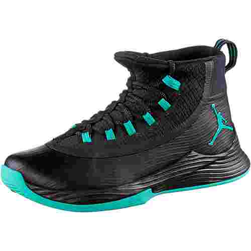 Nike JORDAN ULTRA FLY 2 Basketballschuhe Herren BLACK/CLEAR JADE-BLACK