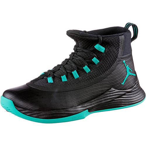 Nike JORDAN ULTRA FLY 2 Basketballschuhe Herren BLACK/CLEAR JADE-BLACK