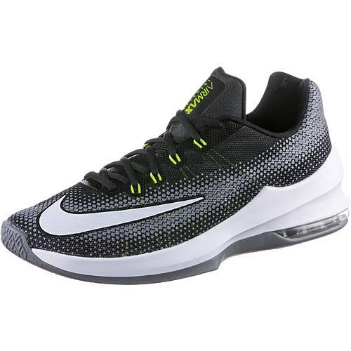 Nike AIR MAX INFURIATE LOW Basketballschuhe Herren BLACK/WHITE-VOLT-COOL GREY