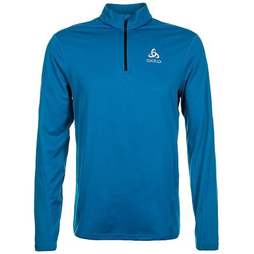 Odlo Sliq Half Zip Laufshirt Herren blau