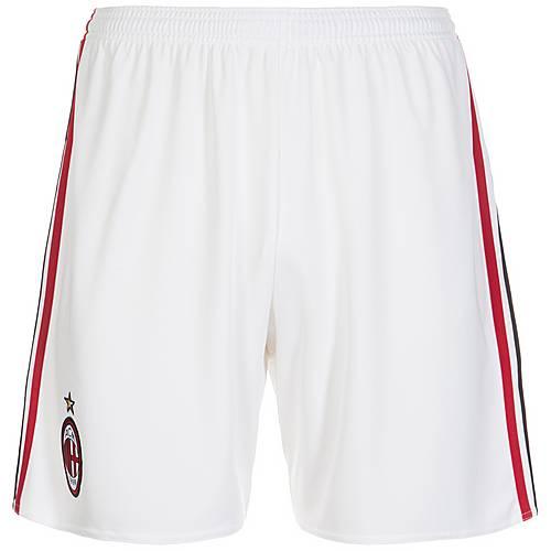 adidas AC Mailand 17/18 Heim Fußballshorts Herren weiß / rot / schwarz