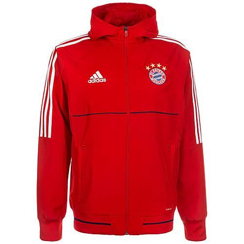 adidas FC Bayern München Trainingsjacke Herren rot / weiß