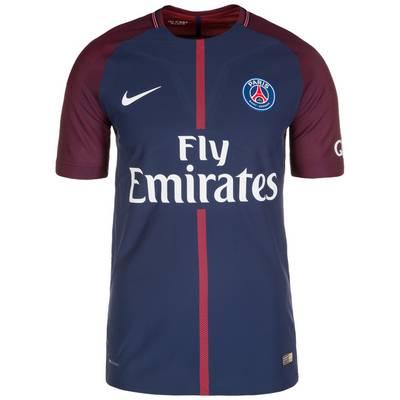 Nike Paris St.-Germain Vapor Match 17/18 Heim Fußballtrikot Herren dunkelblau / rot