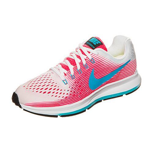 Nike Zoom Pegasus 34 Laufschuhe Kinder weiß / pink / blau