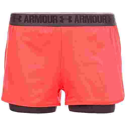 Under Armour HeatGear 2-in-1 Shorts Damen orange / grau
