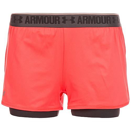Under Armour HeatGear 2-in-1 Shorts Damen orange / grau