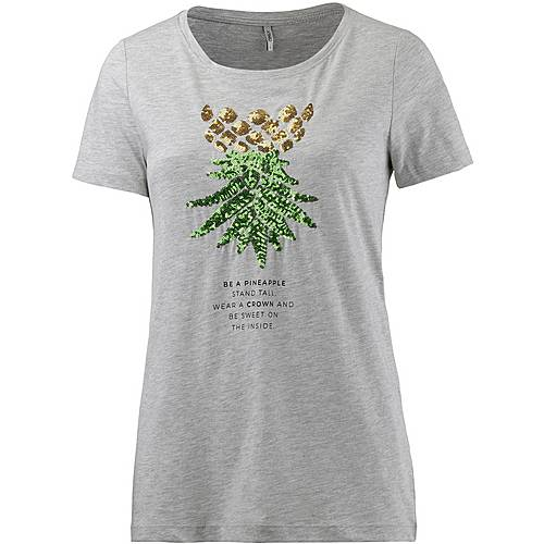 Only Kita T-Shirt Damen graumelange