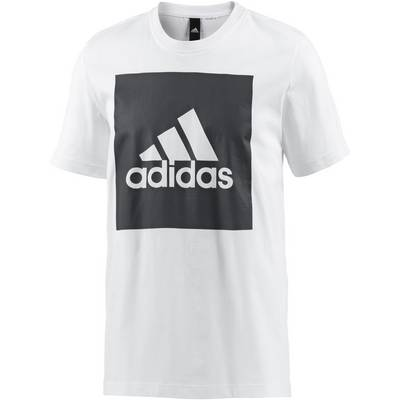 adidas Essential Big Logo T-Shirt Herren white
