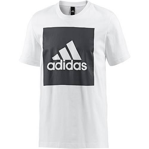 adidas Essential Big Logo T-Shirt Herren white