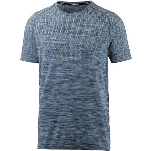 Nike DRI-FIT KNIT Laufshirt Herren cirrus blue/thunder blue/(refl