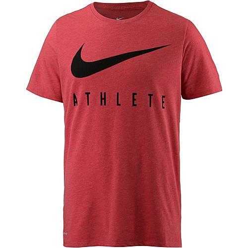 Nike Dry Funktionsshirt Herren LT UNIV RED HTR/BLACK