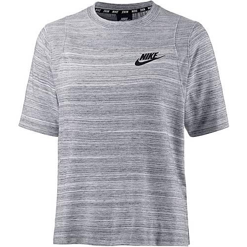 Nike Advanced Knit T-Shirt Damen WHITE/BLACK