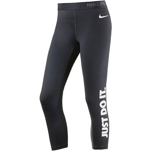 Nike Pro Dry Fit Tights Damen BLACK/WHITE