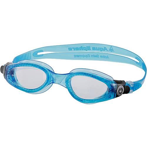Aqua Sphere Kaiman Schwimmbrille clear lens-light blue