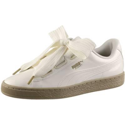 PUMA Basket Heart Patent Sneaker Damen Marshmallow-Marshmallow