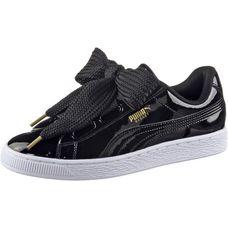 PUMA Basket Heart Patent Sneaker Damen Puma Black-Puma Black