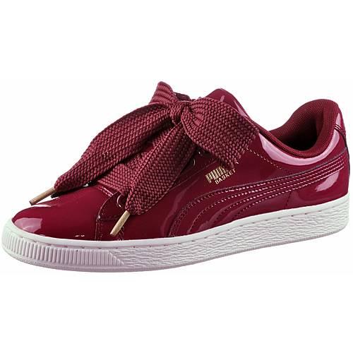 PUMA Basket Heart Patent Sneaker Damen Tibetan Red-Tibetan Red