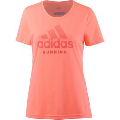 adidas Category Logo Laufshirt Damen sun glow