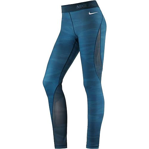 Nike Pro Hypercool Tights Damen SPACE BLUE/WHITE