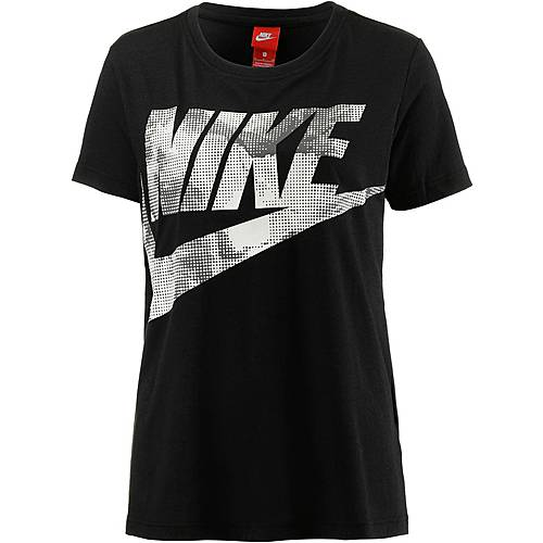 Nike Glacier T-Shirt Damen BLACK/MIDNIGHT FOG/LIGHT BONE