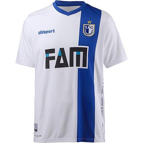 Uhlsport 1. FC Magdeburg 17/18 Heim Fußballtrikot Herren weiß/blau