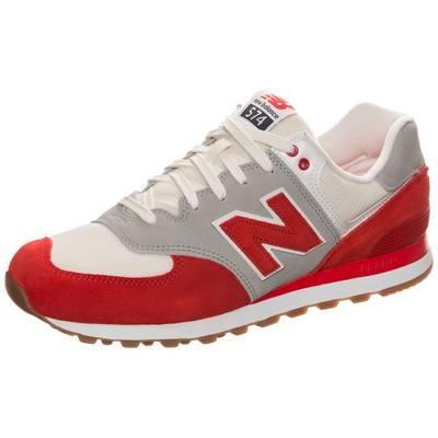 NEW BALANCE ML574RSB-D Sneaker Herren beige / rot
