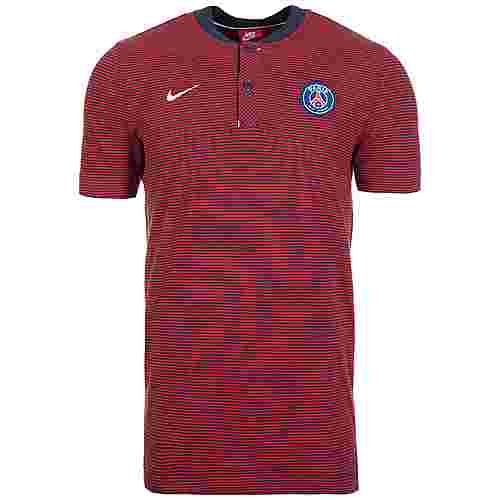 Nike Paris Saint-Germain Modern Authentic Poloshirt Herren rot / dunkelblau