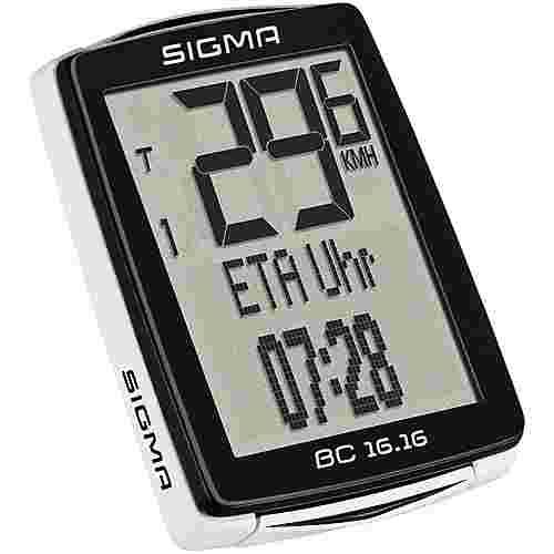 SIGMA BC 16.16 Fahrradtacho schwarz-weiß