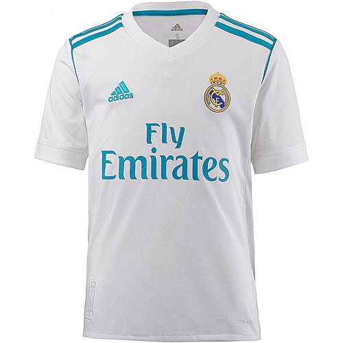 adidas Real Madrid 17/18 Heim Fußballtrikot Kinder white
