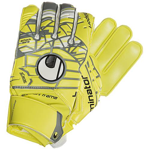 Uhlsport Eliminator Soft SF Torwarthandschuhe Kinder gelb / grau