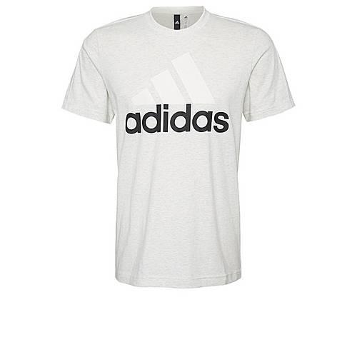 adidas Essentials Classics Tee T-Shirt Herren White Melange