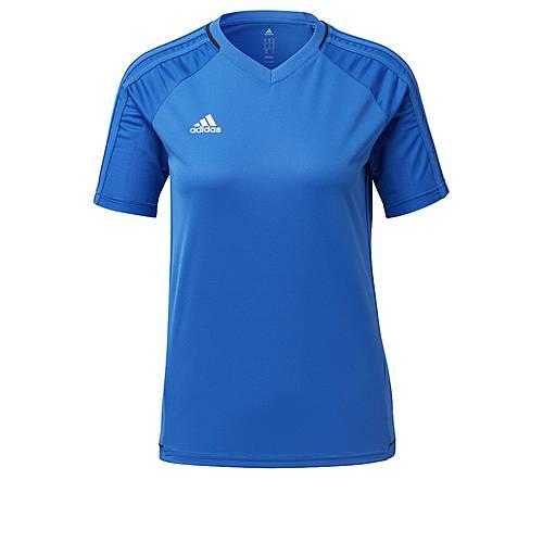 adidas Tiro 17 Trainings Fußballtrikot Kinder Blue-Collegiate Navy-White