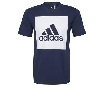adidas Essentials Box Logo T-Shirt Herren Collegiate Navy