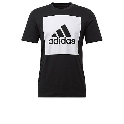 adidas Essentials Box Logo T-Shirt Herren Black