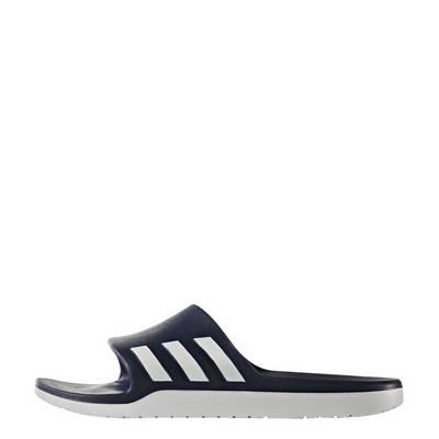 adidas Aqualette Cloudfoam Pantoletten Herren Collegiate Navy-Footwear White