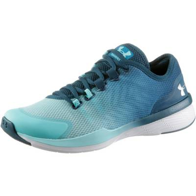 Under Armour Charged Push TR Fitnessschuhe Damen BAYOU BLUE/BLUE INFINITY/METALLIC SILVER